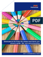 Stödmaterial Språk-, läs- och skrivutveckling 140228