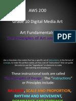 AWS 2O0_Art Fundamentals_The Principles of Art and Design