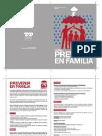 Prevenir en Familia 2014 Diptico