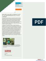Témoignage de l'entreprise RAO Manufacturing Company concernant l'autolaveuse T12