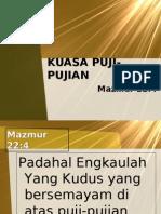 KUASA PUJI-PUJIAN, by. Hani Kong, GPdI MAhanaim Tegal