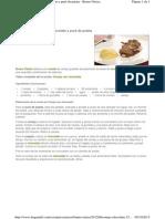 Conejo Con Chocolate y Pure de Manzana 2.9.2013
