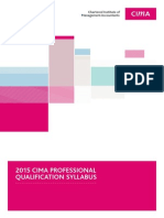 CIMA 2015 Professional Qualification Syllabus