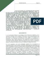 El Convenio de Mando Único que firmó el Gobierno Municipal de Tepoztlán con el Gobierno Estatal.