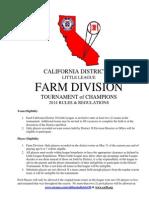 2014 Farm Tournament of Champions Rules 3-02-14