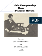 (eBook) Chess Match 1921 LASKER-CAPABLANCA [Booklet Print] (Share Your Chess Books) Fried Fox(1)