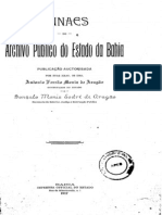 Anais do Arquivo Público da Bahia - Volume I