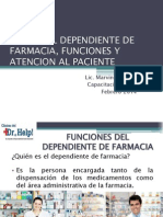 Capacitacion No.1 Dependiente de Farmacia Feb2014
