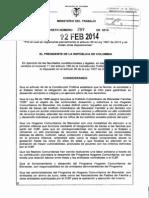 Decreto 289 Del 12 de Febrero de 2014
