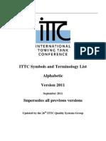 Alphabetic ITTC Symbols List2011
