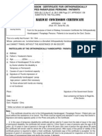 Railway Concession Certificate
