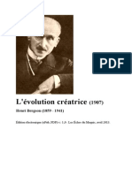 BERGSON, Henri. L'évolution créatrice