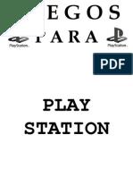 Aviso Juegos Para Play Station