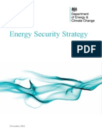 Department of Energy and Climate Change (2012) Energy Security Strategy