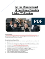 Apply for the Occupational Therapist Position at Nuvista Living Wellington