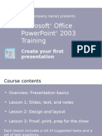 Microsoft Office Power Point 2003 Training 75 s