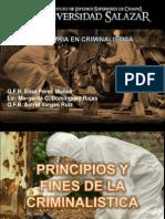 Principios y Fines de La Criminalistica