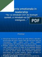 Curs 5 Leadership - Inteligenta Emotionala