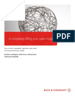 BAIN BRIEF is Complexity Killing Your Sales Model