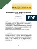 European Round Robin Test for Sound Absorption