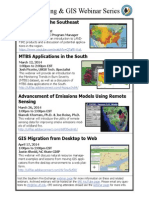 SFE Mapping and GIS Webinar Series
