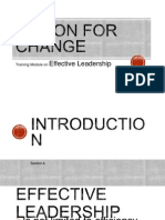 Action for Change -Training Module on Effective Leadership