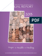 Division of Substance Abuse and Mental Health Annual Report 2013