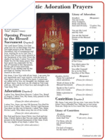 Adoration Large Prayer Card
