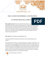 Q&A - the Causes for Differing and Splitting by Shaykh Ghudayaan
