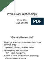 Productivity Phonol