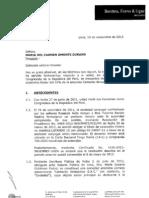 Informe Jurídico Benites, Forno, Ugaz señala que no existe incompatibilidad y no se vulneró la ley