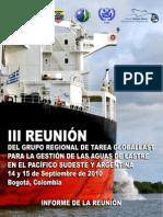 Informe III Gtr Globallast_bogota_2010