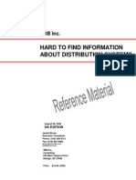 HARD TO FIND INFORMATION ABOUT DISTRIBUTION SYSTEMS