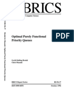Optimal Purely Functional Priority Queues