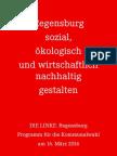 Kommunalwahlprogramm 2014 DIE LINKE. Regensburg