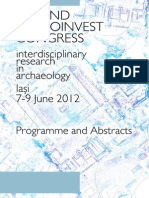 Second Arheoinvest Congress - Programme and Abstracts