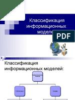 Виды информационнных моделей