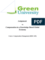 Compensation in a Knowledge-Based Global Economy