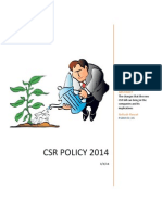 CSR Policy 2014