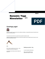 Dynamic Yoga Newsletter Winter 2014