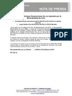NP. 022-14 Pavimento de La Antigua Panamericana Sur Es Mejorado Por La Municipalidad de Lima