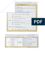 Le preposizioni - Italijanski predlozi
