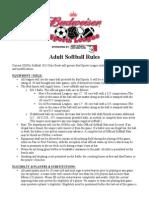 BudSports 2014 Softball Rules