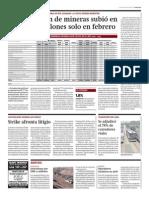 Capitalización de mineras subió en febrero_Gestión_03-03-2014