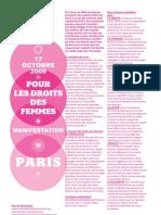 Tract Mobilisation DROITS DES FEMMES 17 Octobre