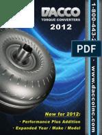 2012 Torque Converter Catalog