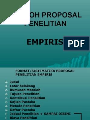 Contoh Empiris