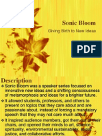 sonic bloom presentation