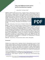 Antropologia e Infancia en Suramerica Perspectivas de Brasil y Argentina