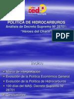 Decreto Supremo de Nacionalizacion No 13